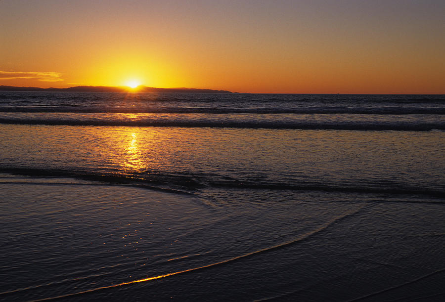 Ventura Photograph - Sunset Over The Pacific Ocean by Stacy Gold