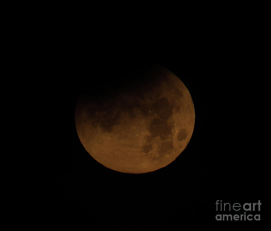 Super Blue Blood Moon Photograph