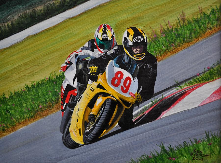 Motorcycle Painting - Superbikes by Kenneth M  Kirsch