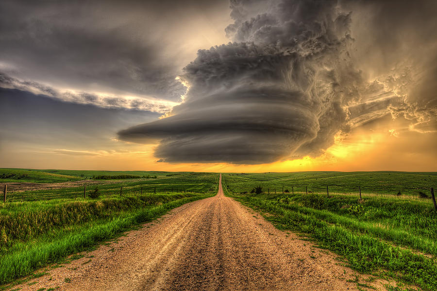 Weather Photograph - Supercell Highway - Arcadia Nebraska by Douglas Berry