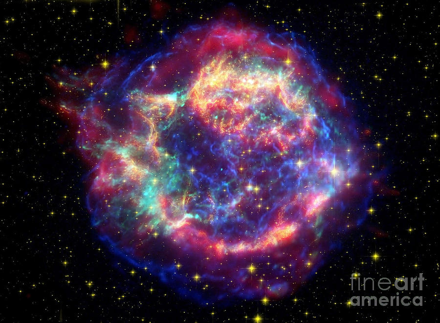 No People Photograph - Supernova Remnant Cassiopeia A by Stocktrek Images