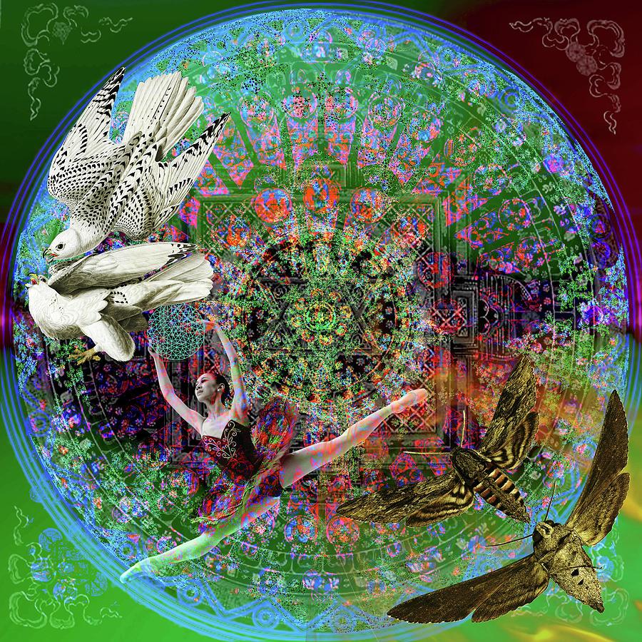 Superstar Electromagnetic Starchild Digital Art