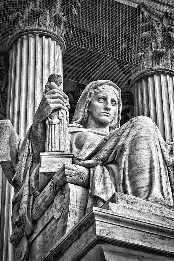 Black Russian Photograph - Supreme Court Building 14 by Val Black Russian Tourchin