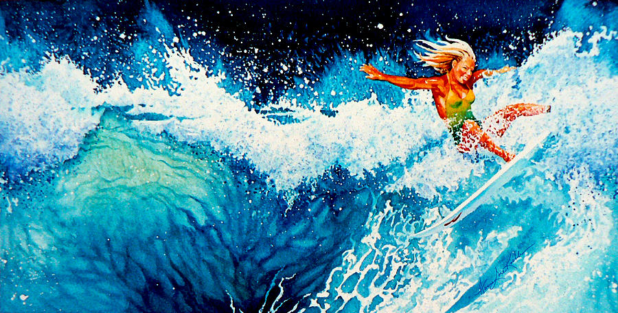 Surfer Girl Painting