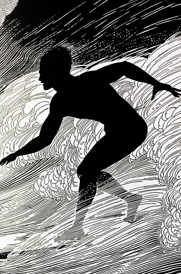 1930 Painting - Surfer by Hawaiian Legacy Archive - Printscapes