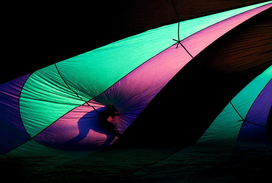 Balloon Photograph - Surfing The Silk by Mike  Dawson