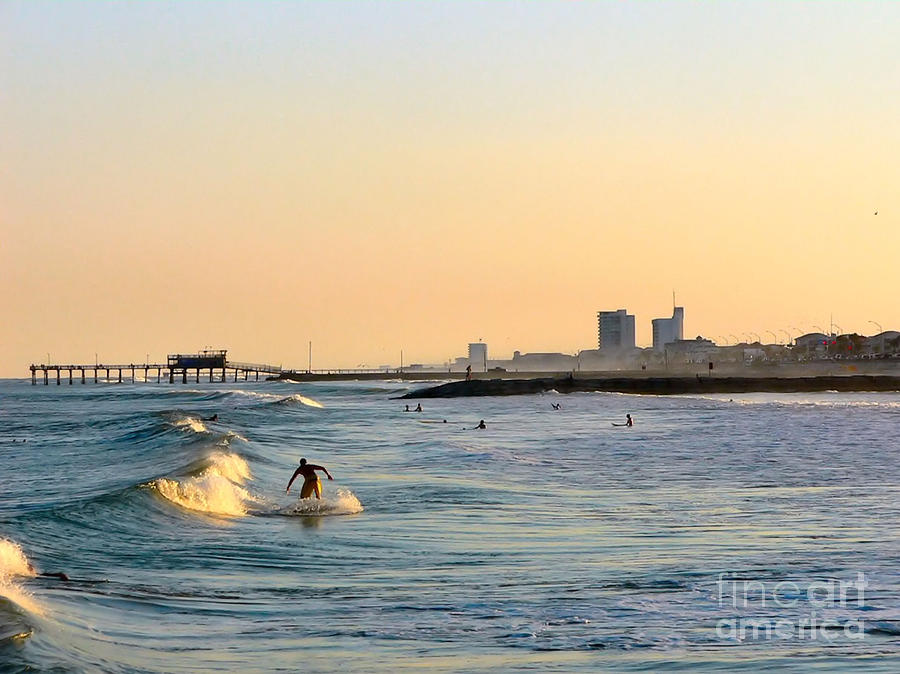 Surf Photograph - Surfs Up by Arthur Herold Jr