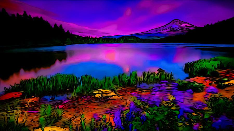 Surreal Landscape Dusk Art Photograph By Ron Fleishman