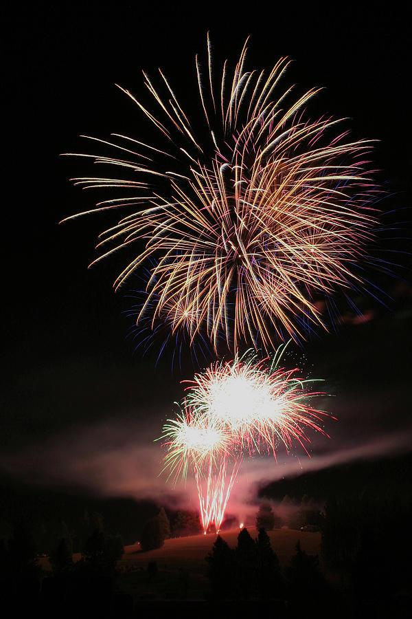 Fireworks Photograph - Surrealistic Hillside by David Patterson