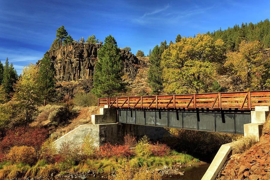 Autumn Photograph - Susan River Bridge On The Bizz by James Eddy