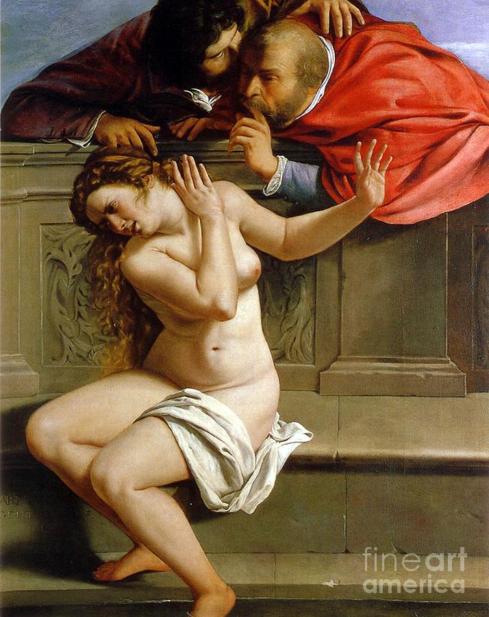 Susannah And The Elders Painting - Susannah And The Elders by Artemisia Gentileschi
