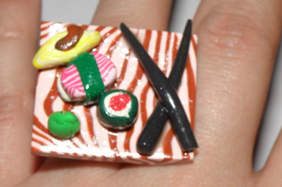 Sushi Jewelry - Sushi Ring 3 by Megan Brandl