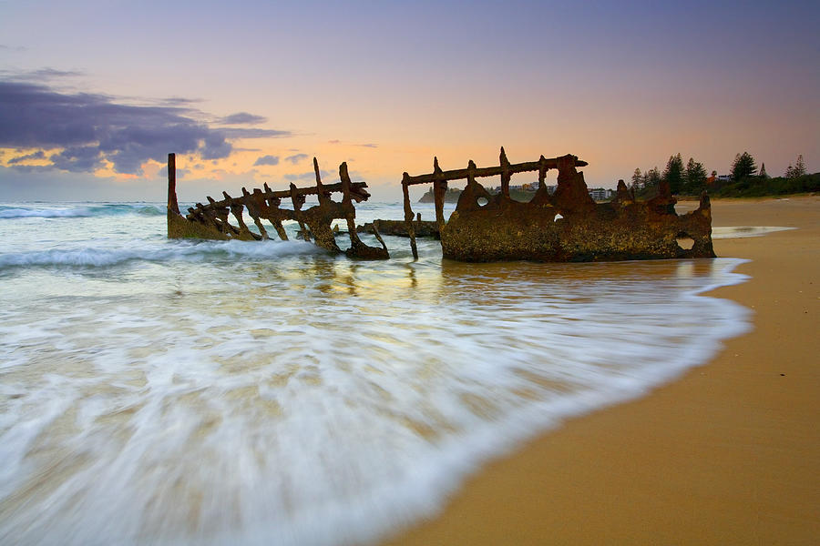 Shipwreck Photograph - Swallowed By The Tides by Mike  Dawson