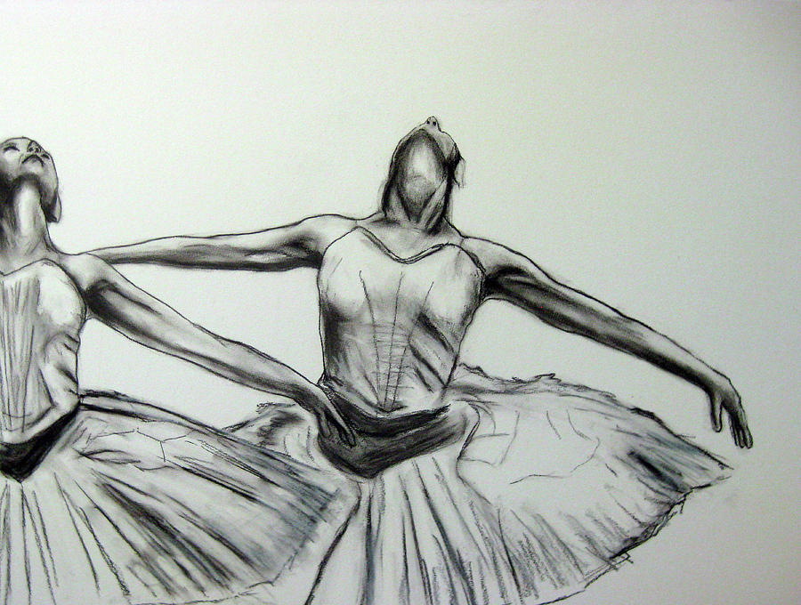 Ballet Painting - Swans by James Gallagher