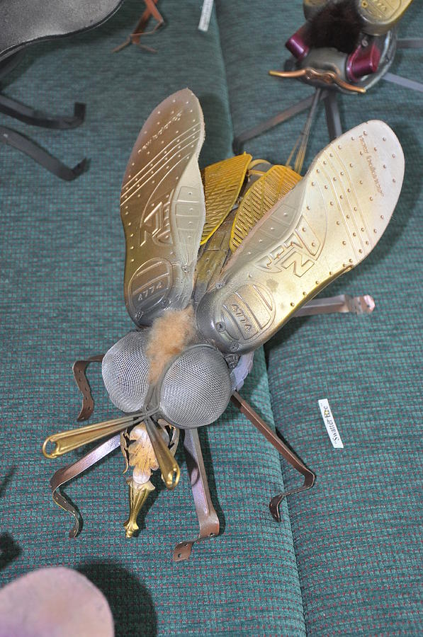 Green Sculpture - Swatter Bee by Michael Jude Russo