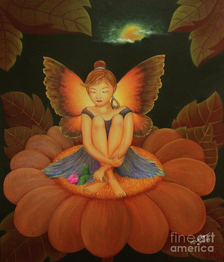 Angel Painting - Sweet Dream by Desiree Micaela
