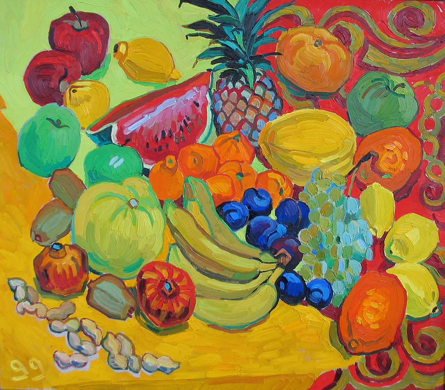 Fruits Painting - Sweet Fruits by Vitali Komarov