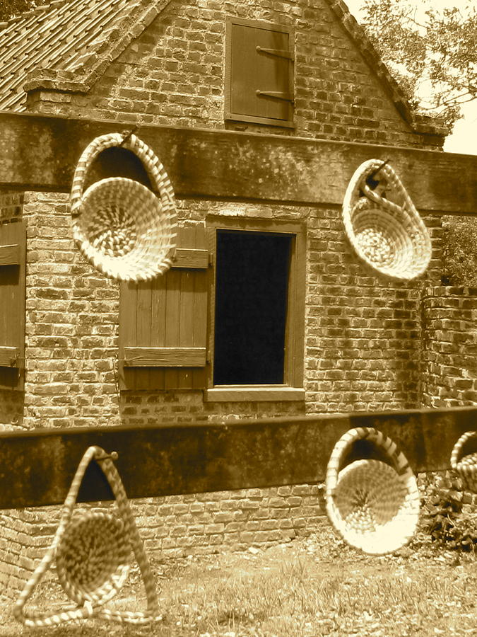 South Carolina Photograph - Sweetgrass Baskets And Slave Shack by Staci-Jill Burnley