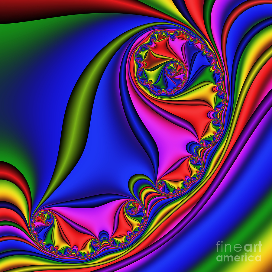 Abstract Digital Art - Swing 202 by Rolf Bertram