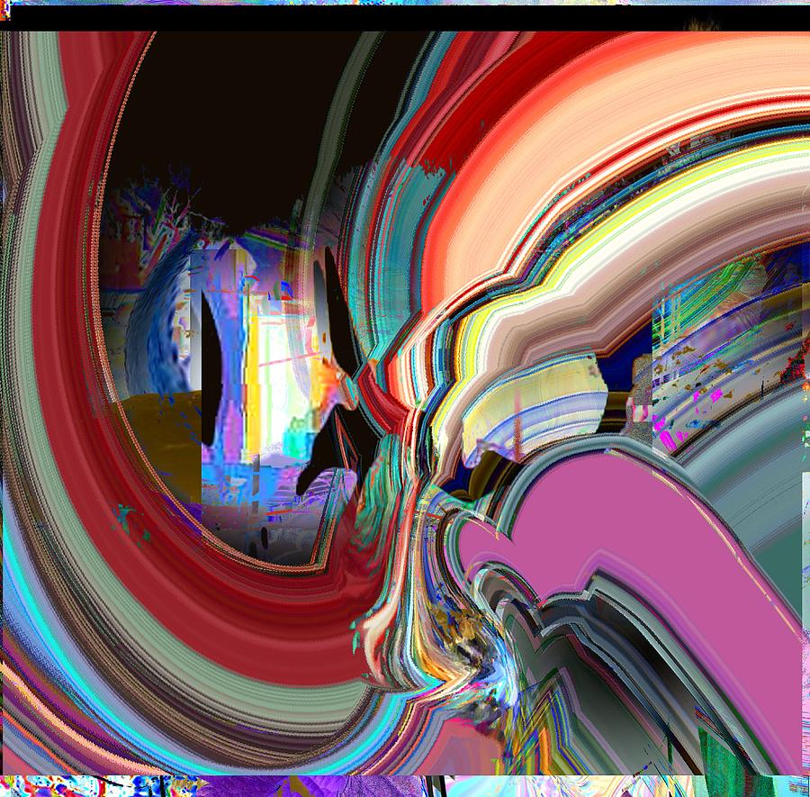 Abstract Digital Art - Swirl by Dave Kwinter