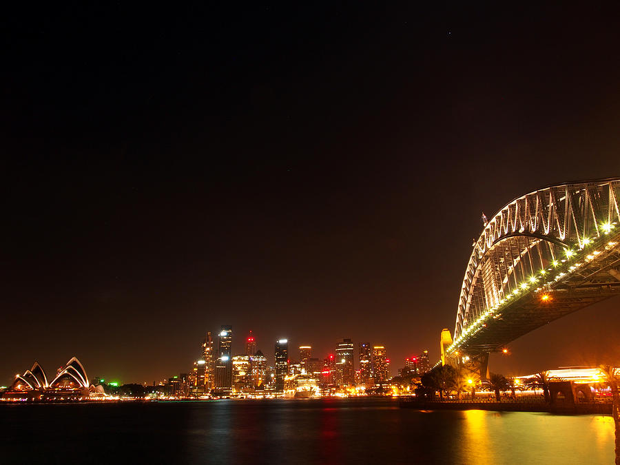 Sydney Photograph - Sydney By Night by Justin Woodhouse