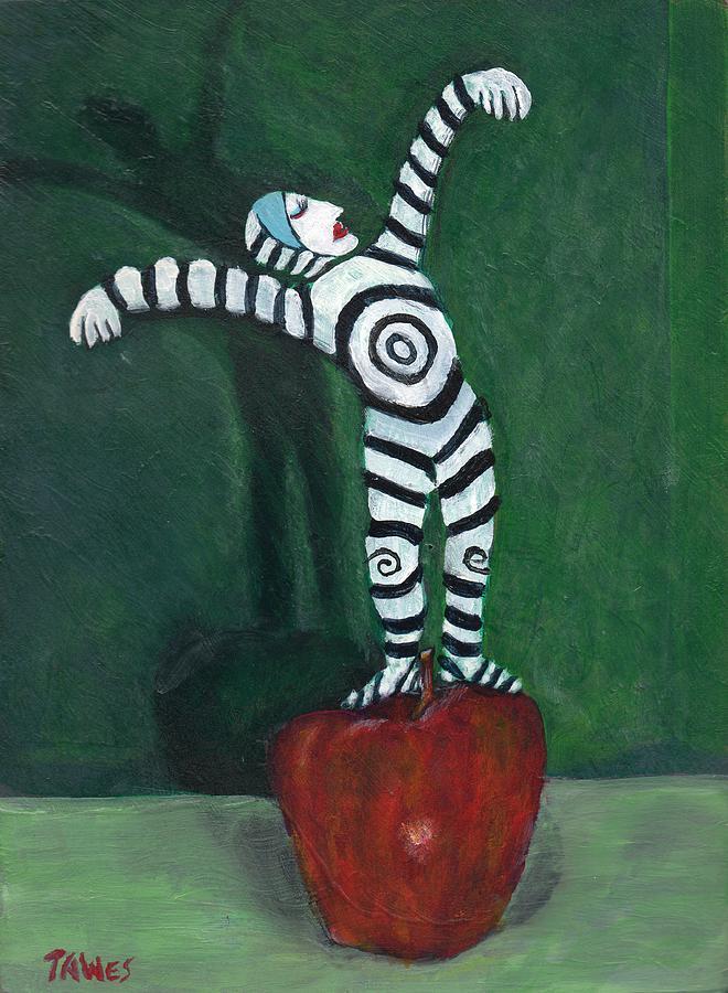 Performer Painting - Ta-dah by Dennis Tawes