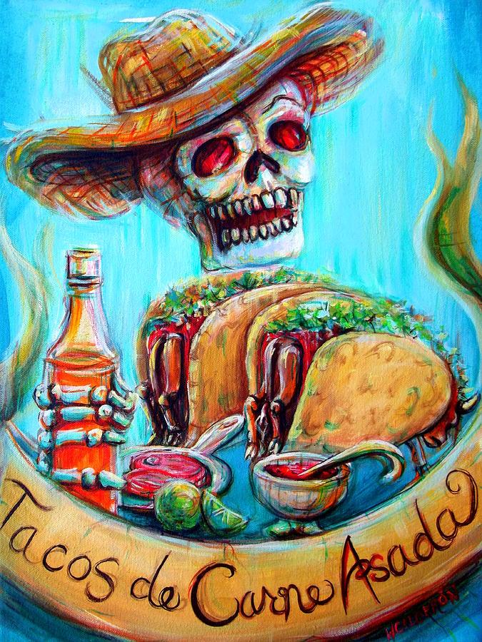 Tacos De Carne Asada Painting By Heather Calderon