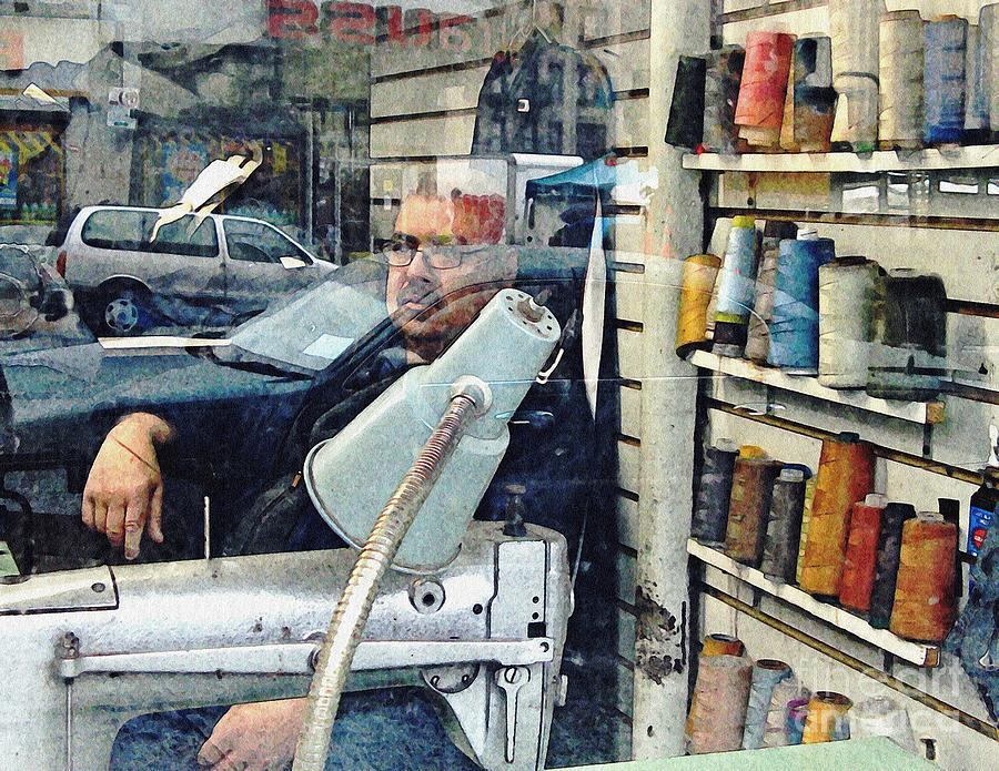 Man Photograph - Tailor Shop by Sarah Loft