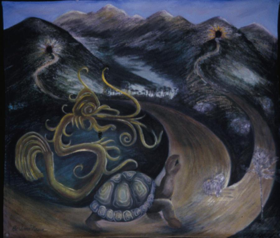 Myth Painting - Taino Eve Creation Myth by Barbara Nesin