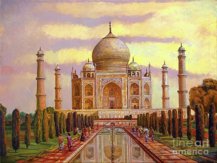 Taj Mahal Painting by Dominique Amendola