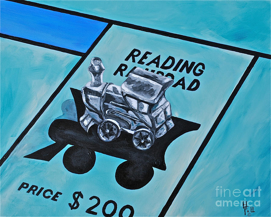 Monopoly Kids Games Kids Toys Old Toys  Painting - Take A Ride On The Reading  by Herschel Fall