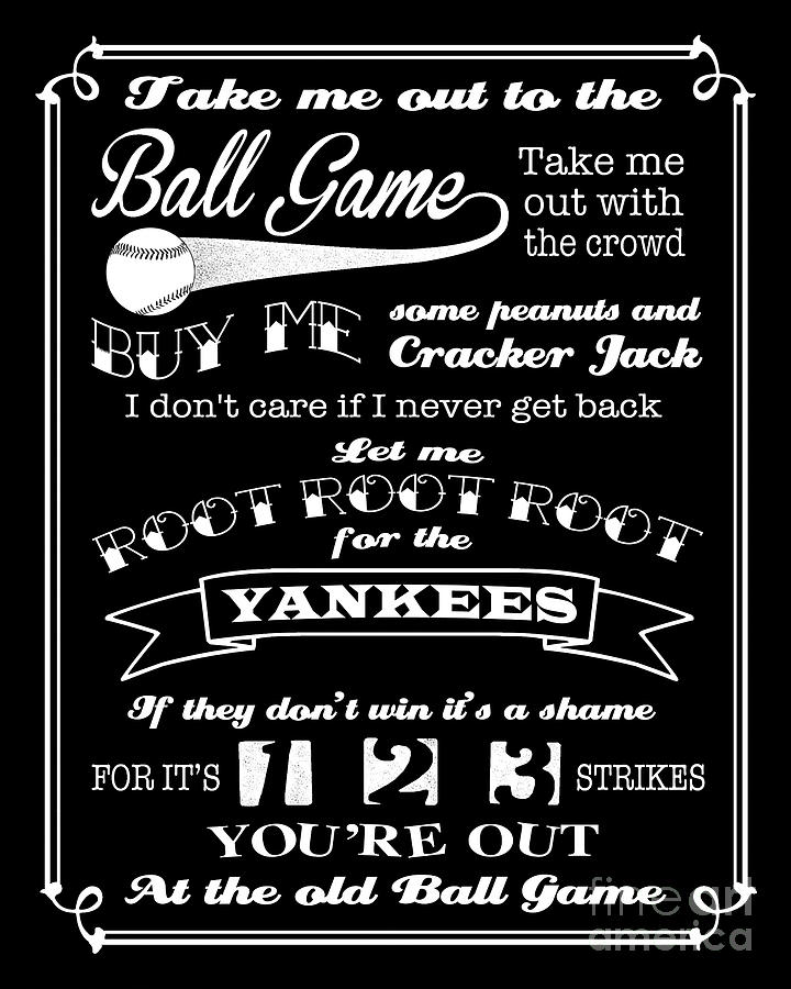 Take me out to the ball game digital art take me out to the ball