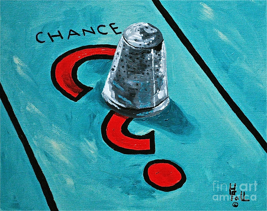 Monopoly Toys Games Chance Painting - Taking A Chance by Herschel Fall