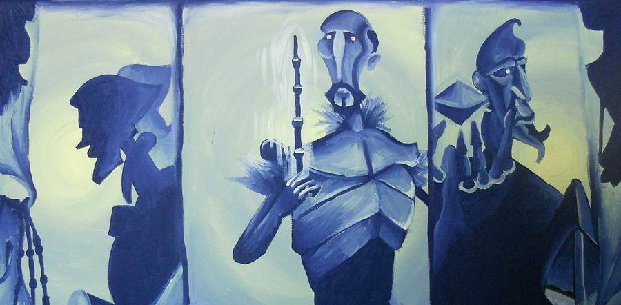 Harry Painting - Tale Of The Three Brothers by Lisa Leeman