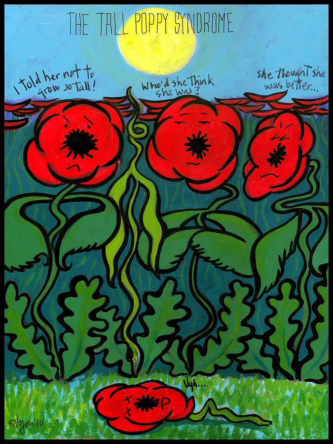 Sun Painting - Tall Poppy Syndrome by Angela Treat Lyon