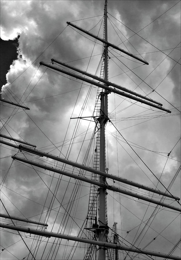 Masts Photograph - Tall Ship Masts by Robert Ullmann