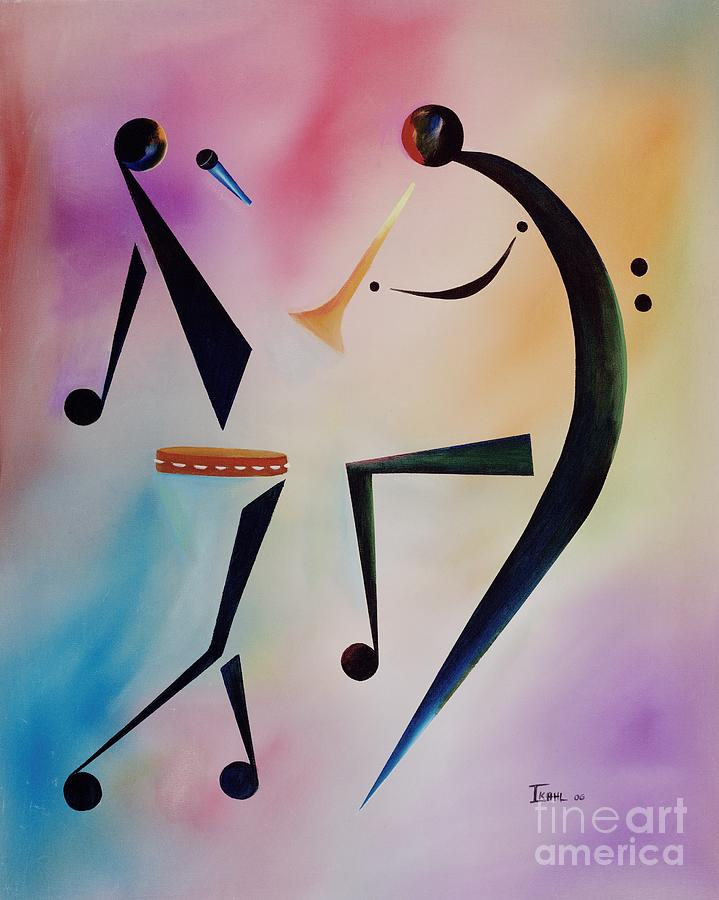 Trumpet Painting - Tambourine Jam by Ikahl Beckford