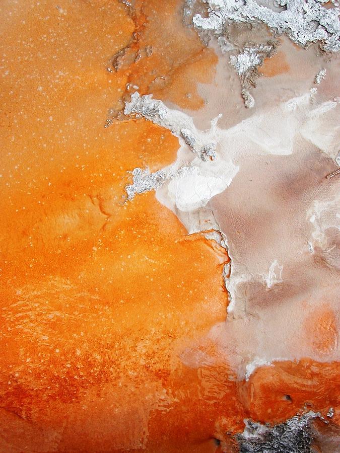 Tangerine Orange Geyser Pool Photograph - Tangerine Orange Geyser Pool Of Yellowstone by The Forests Edge Photography - Diane Sandoval