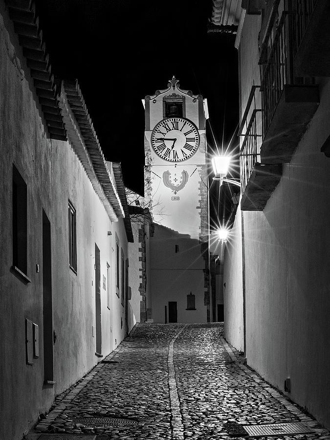 Tavira Church Bell Tower At Night - Portugal Photograph