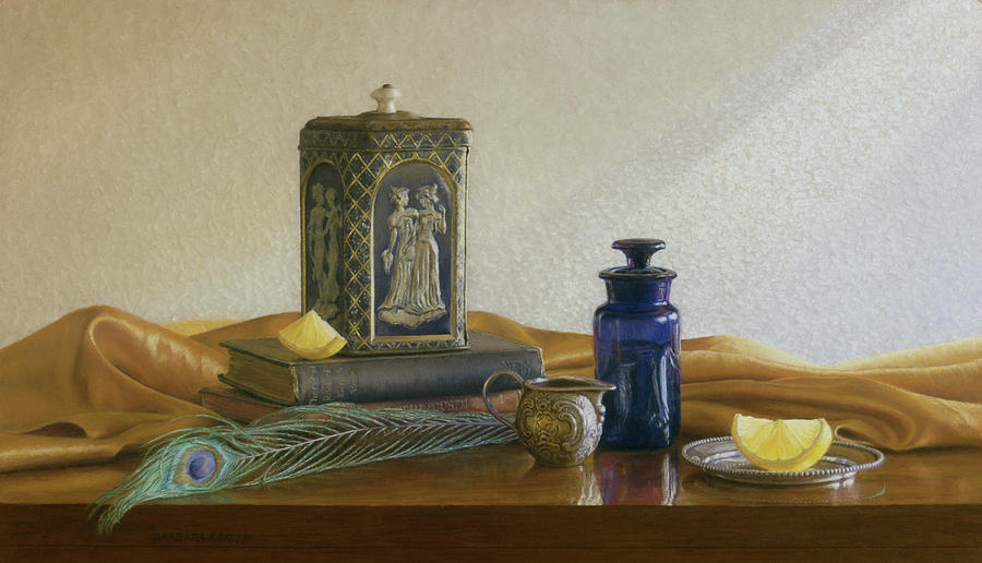 Still Life Painting - Tea With Lemon by Barbara Groff