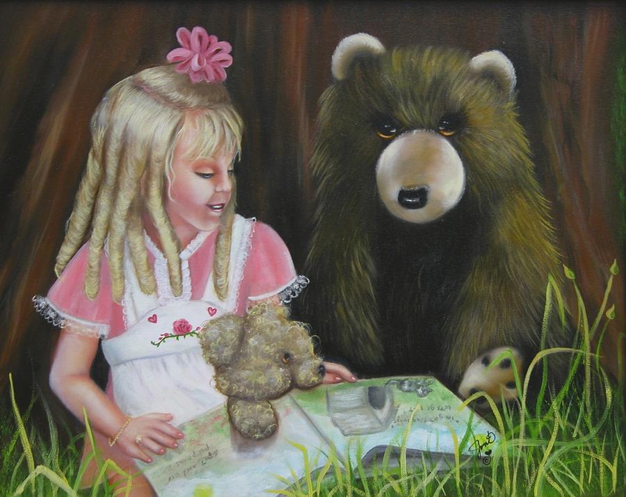 Children Painting - Teacher by Joni McPherson