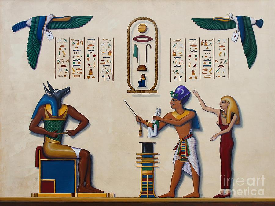 Egypt Painting - Teaching An Old God New Tricks by Richard Deurer