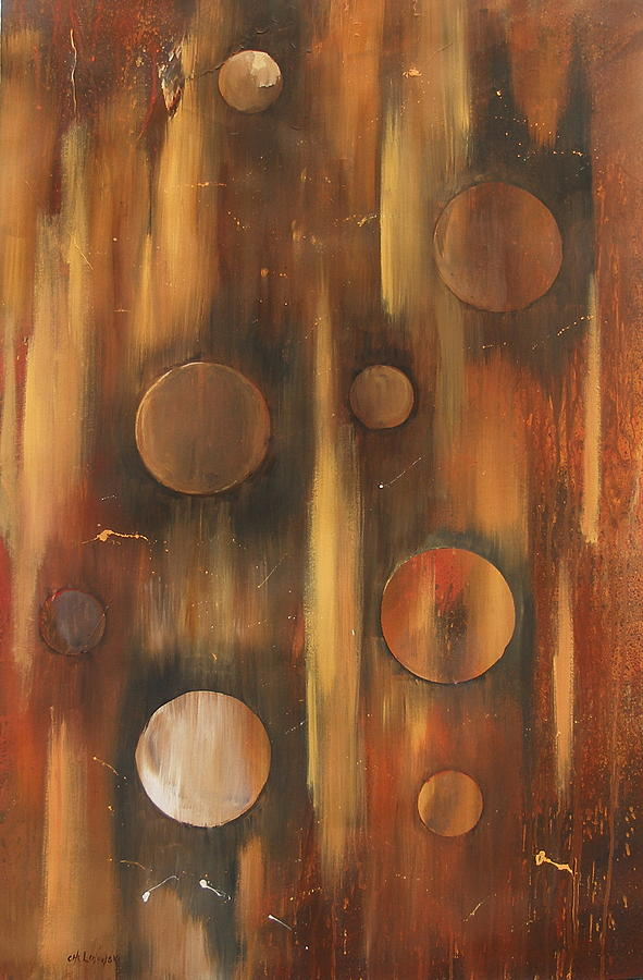 Tear Drops  Tears Drops Abstract Painting Rings Painting - Tear Drops by Miroslaw  Chelchowski