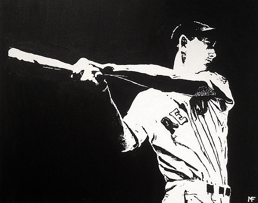 Ted Williams Painting - Ted by Matthew Formeller