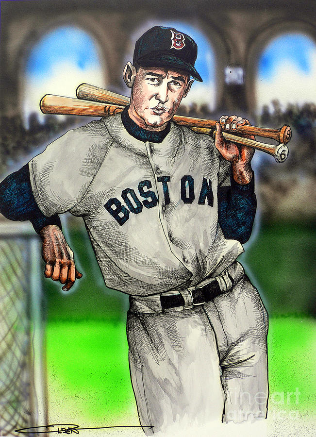 Mbl Painting - Ted Williams by Dave Olsen