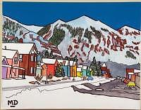 Main Street Shadows Painting - Telluride Afternoon by M D