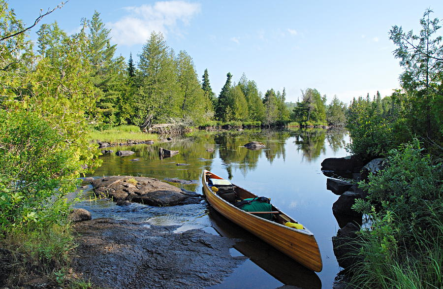 Boundary Waters Canoe Area Wilderness Photograph - Temperance River Portage by Larry Ricker
