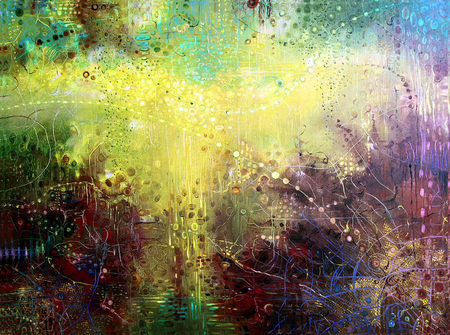 Abstract Painting Painting - Temptation by Lolita Bronzini