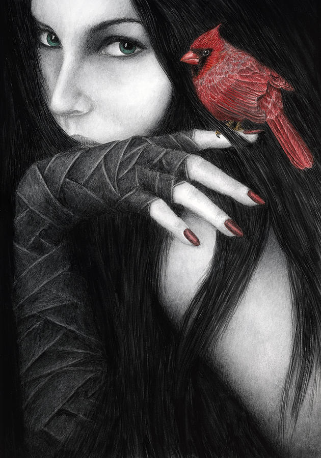 Goth Painting - Temptation by Pat Erickson