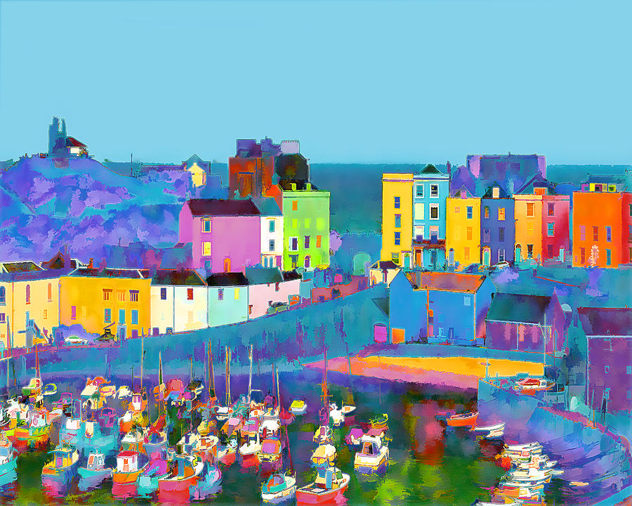 Tenby Photograph - Tenby Harbour  I by Gareth Davies